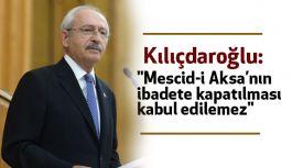 """""""Mescid-i Aksa'nın ibadete kapatılması kabul edilemez"""""""