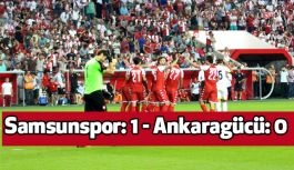 Samsunspor: 1 - Ankaragücü: 0