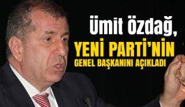 """Ümit Özdağ, """"Yeni Parti"""" Genel Başkanını Açıkladı"""