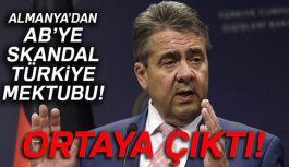 Almanya'dan AB'ye Skandal Türkiye Mektubu