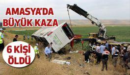 Amasya'da Korkunç Kaza: 6 Kişi  Hayatını Kaybetti