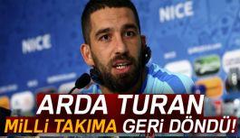 Arda Turan, Milli Takım'a Geri Döndü