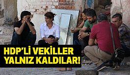 HDP'li vekiller Eylemlerinde Yalnız Kaldı