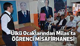 Milas'ta, Ülkü Ocakları Öğrenci Misafirhanesi Açtı