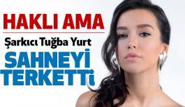 Popçu Şarkıcı Tuğba, Konserde Sahneyi Terk Etti!