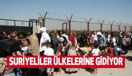 Suriyeliler Ülkelerine Gidiyor