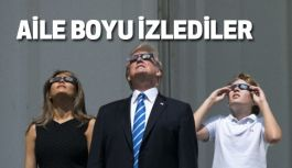 Trump, Ailesiyle Güneş Tutulmasını Böyle İzlediler