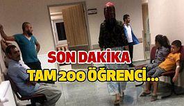 200 öğrenci Hastaneye Kaldırıldı