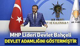 """Ak Partili Mahir Ünal; Devlet Bahçeli'ye Teşekkür Ediyorum"""""""