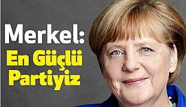 Angela Merkel, En Güçlü Partiyiz