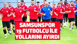 Kırmızı-beyazlı kulüp 19 futbolcu ile de yollarını ayırdı