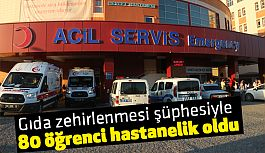 Mersin'de 80 öğrenci hastanelik oldu