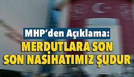 """MHP'de Baş Olma Sevdaları Hayal Olmuştur"""