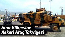Sınır Bölgesine Askeri Araç Takviyesi