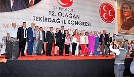 Tekirdağ MHP 12. olağan kongresinde Güven Tazelendi