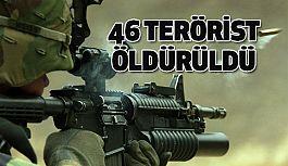 TSK'dan Flaş Açıklama: 46 Terörist Etkisiz Hale Getirildi