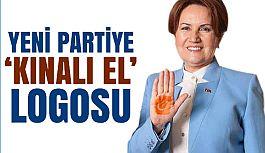 """Yeni Partiye """"Kınalı El"""" Logosu"""