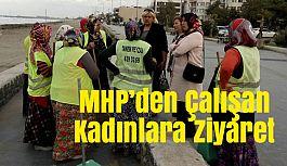 Atakum'da MHP Kadın Kolları Çalışan Kadınları Ziyaret Etti