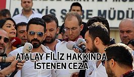 Atalay Filiz Hakkında İstenen Ceza...