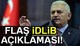 Başbakan'dan flaş İdlib açıklaması