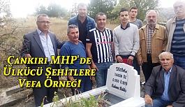 Çankırı MHP'de Ülkücü Şehitlere Vefa Örneği