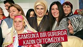 Çarşambalı Kadın Çiftçi Ayşe Akkuş'a Emine Erdoğan'dan Ödül