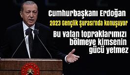 Cumhurbaşkanı Erdoğan, 2023 Gençlik Şurası'nda konuşuyor