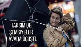 İstanbul'da Şiddetli Rüzgar ve Yağmur...