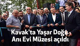 Kavak'ta Yaşar Doğu Anı Evi Müzesi açıldı
