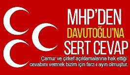 MHP'den Davutoğlu'na Cevap: Bu Durum Acınacak Bir Halin Hazin Tecellisidir