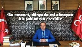 MHP İl Başkanı Tekin 29 Ekim Cumhuriyet Bayramını Kutladı