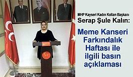 MHP Kayseri Kadın Kollarından Meme Kanseri Farkındalık Çalışması