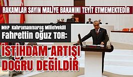 MHP'li Milletvekili Tor; İstihdam Artışı...