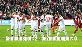 Samsunspor: 2 - Gaziantepspor: 0