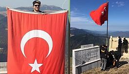 Şehitler Tepesi'ne Yeni Türk Bayrağı