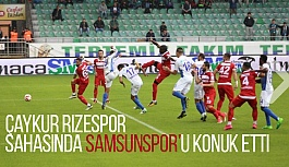 TFF 1. Lig: Çaykur Rizespor: 1 - Samsunspor: 1