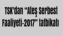 "TSK'dan ""Ateş Serbest Faaliyeti-2017"" tatbikatı"