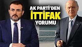 """AK Parti'den, Bahçeli'nin """"ittifak"""" Yorumuna Cevap"""