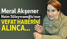 Akşener, Süleymanoğlu'nun Vefat Haberi İçin Ne Dedi?