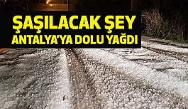 Antalya'da Dolu Çiftçiyi Vurdu