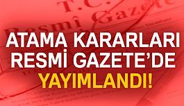 Atama Kararları Resmi Gazetede