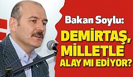 Bakan Soylu'dan Demirtaş'a Sert Tepki!