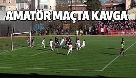 Bartın'da Amatör maçta kavga