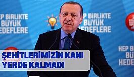Cumhurbaşkanı Erdoğan, Şehitlerimizin Kanını Yerde Komayacağız