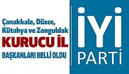 İYİ Parti'de Çanakkale, Düzce, Kütahya ve Zonguldak Başkanları Belli Oldu