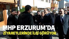 MHP Erzurum'da İlgi Görüyor