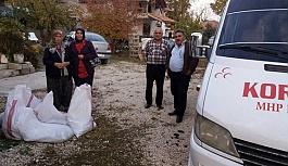 MHP'li Kadın Kolları Kömür Dağıttı