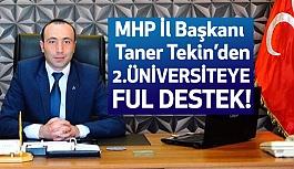 """MHP'li Tekin'den """"İkinci Devlet Üniversitesi"""" Açıklaması"""