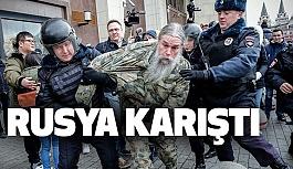 Moskova'da Putin Karıştı Gösteri: 380 Gözaltı