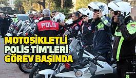 Motosikletli Polis Timleri Görev Başında